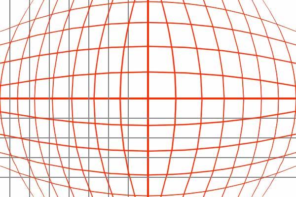 linee delreticolo in un fisheye