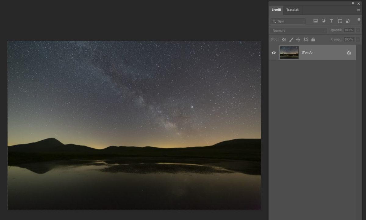 Come eliminare l'inquinamento luminoso nelle foto di Via Lattea