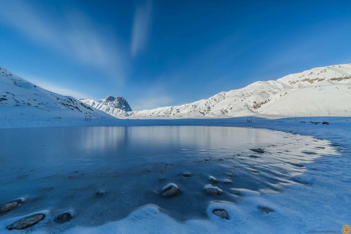 Laghetto Pietranzoni ghiacciato