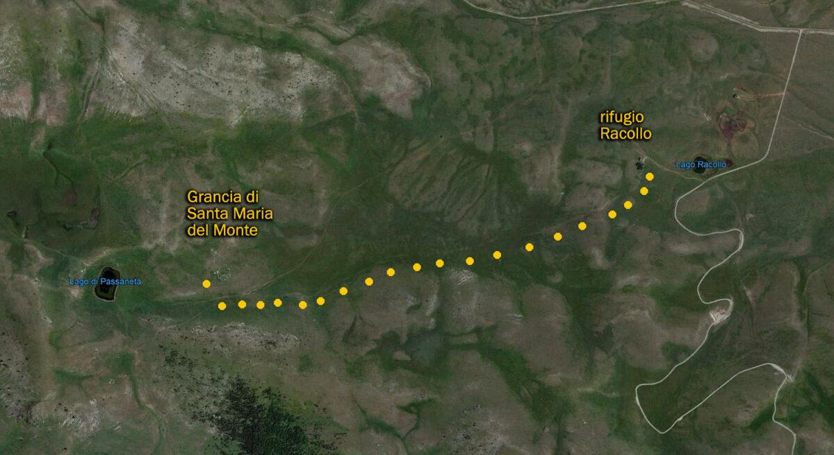 Grancia di Santa Maria del Monte punti di ripresa per fotografare Campo Imperatore