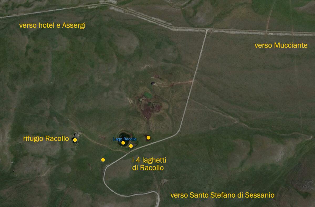Laghetti di Racollo e rifugio punti di ripresa per fotografare Campo Imperatore